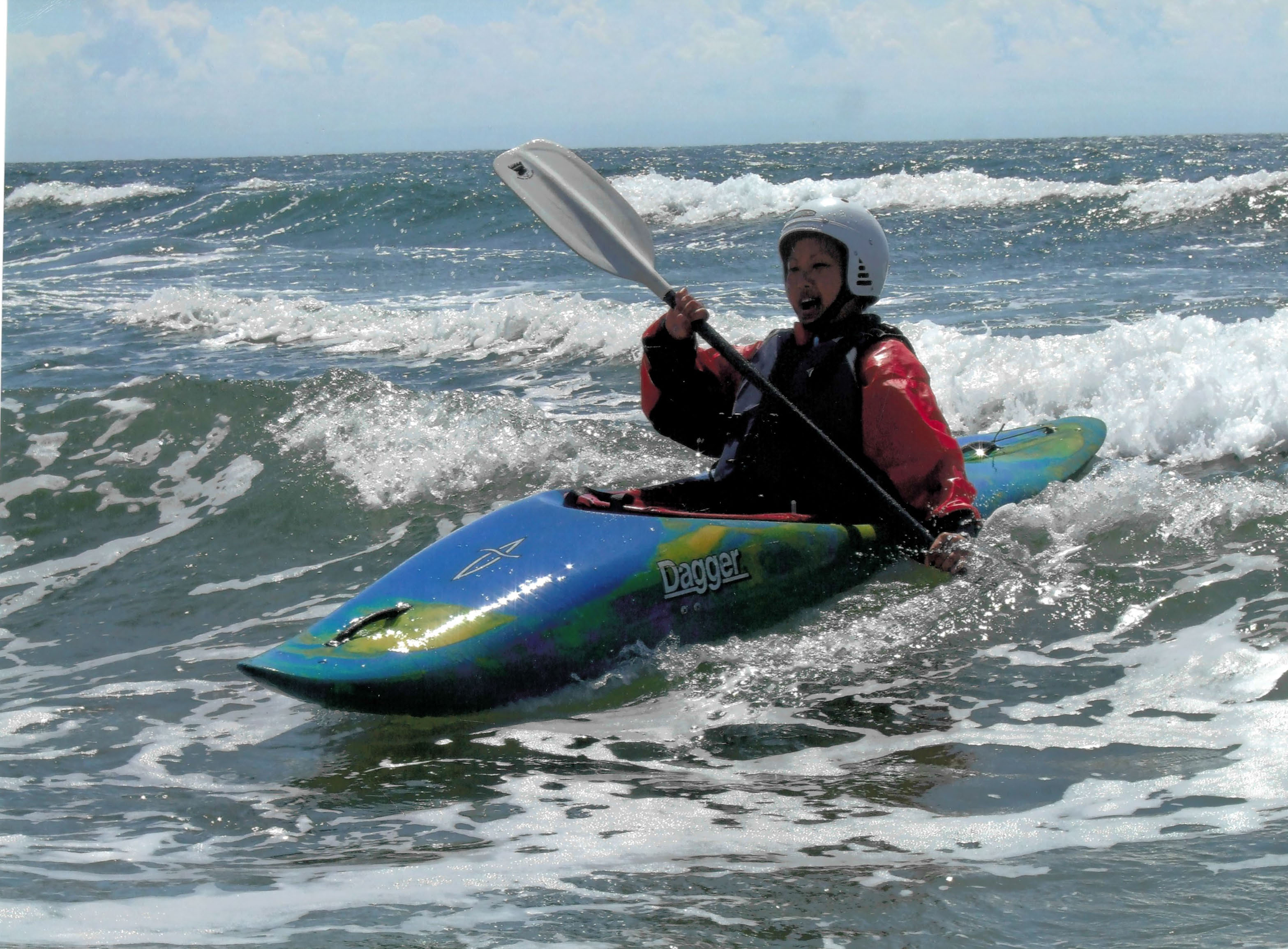 Canoe Surfing at Gower