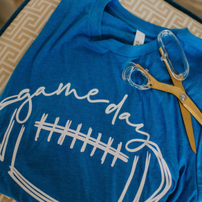 gameday t-shirt diy