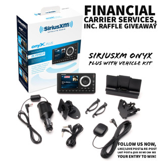 FCS Raffle Giveaway Winner of SiriusXM Onyx Plus Radio