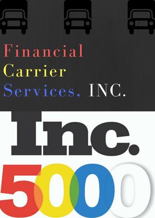 Financial Carrier Services, Inc on Inc.5000 2017 List!