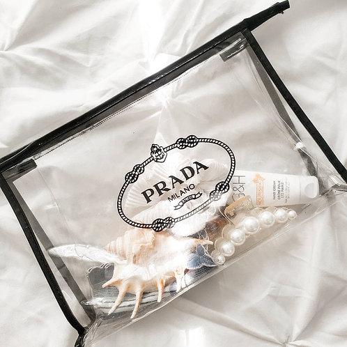 """""""Prada"""" Clear Clutch"""
