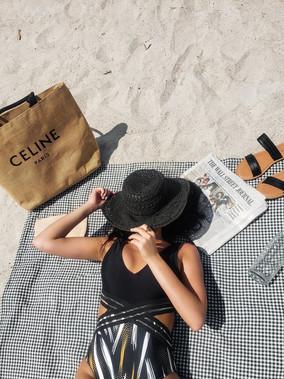 Black Cutout Suit & Celine