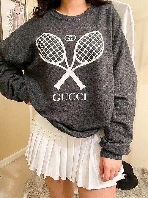 GG Tennis Crew Neck Pullover - Center Logo