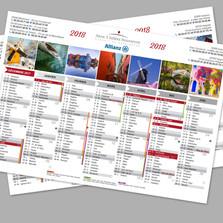 Création de calendriers A3 pour un assureur du Soissonnais