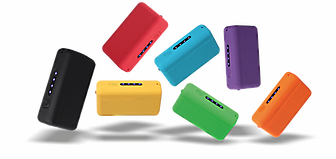 Power bank avec une finition rubber de 4000 mAh