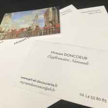 Création graphique d'une carte de visite et d'une carte de correspondance