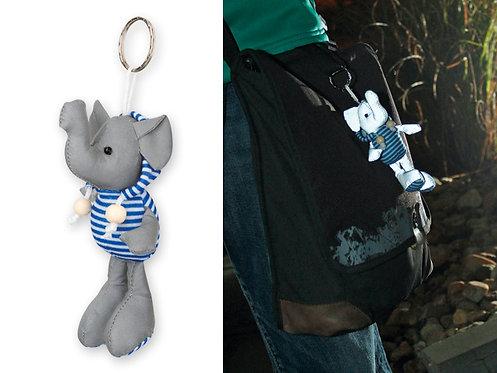 Porte clé réfléchissant éléphant ou lapin