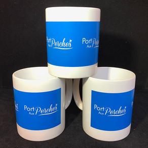 Tasse de 35 cl en porcelaine avec une impression sérigraphie