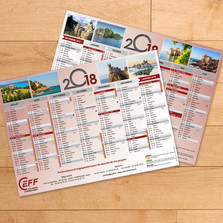 Réalisation de calendriers A4 pour une société de travaux d'installation
