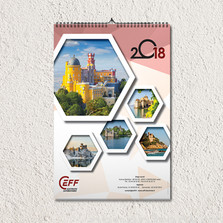 Création de calendriers illustrés pour une société de travaux d'installation…