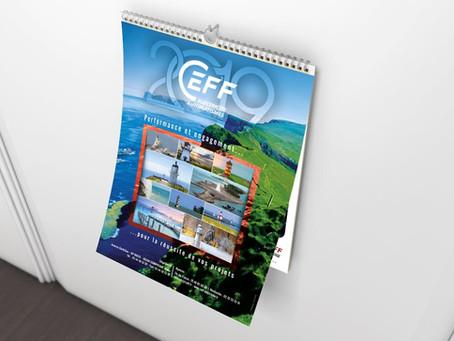 Création de calendriers illustrés, calendriers bancaires et de calendriers de bureau multi formats