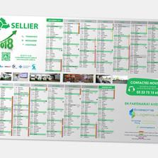Création de calendriers grand format pour un transporteur de l'Aisne