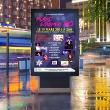 Création d'une affiche publicitaire pour un concert à Villers-Cotterêts
