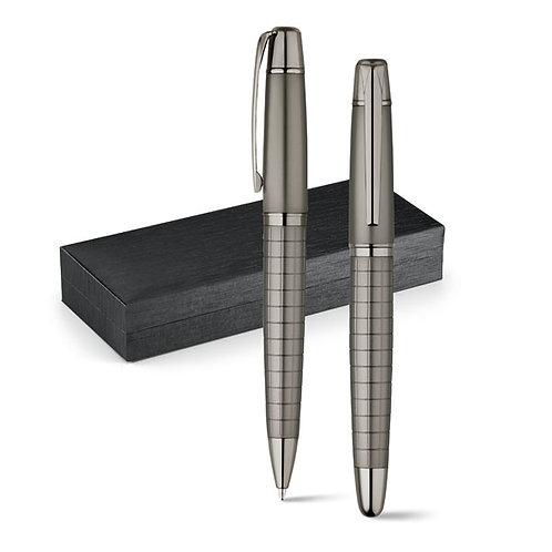 Set stylo roller et stylo à bille en métal