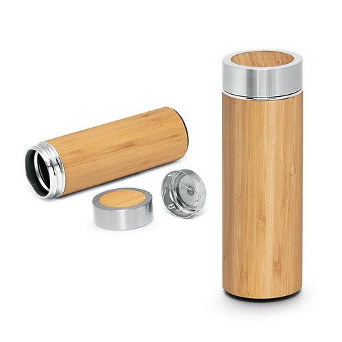 Bouteille isotherme en acier et bambou 430 ml