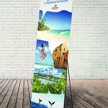 X banner pour la République Dominicaine avec une impression en quadri