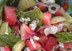 Summer Watermelon Salad Serves 4