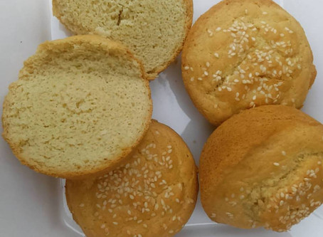 Almond Bread Rolls With Sesame Seed