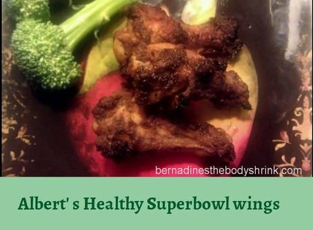 Albert's Healthy Super Bowl Wings Serves 4