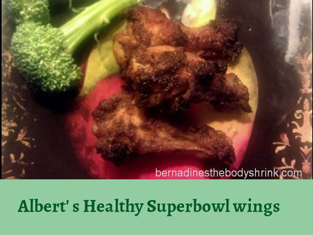 Albert's Healthy Super Bowl Wings Serves 4
