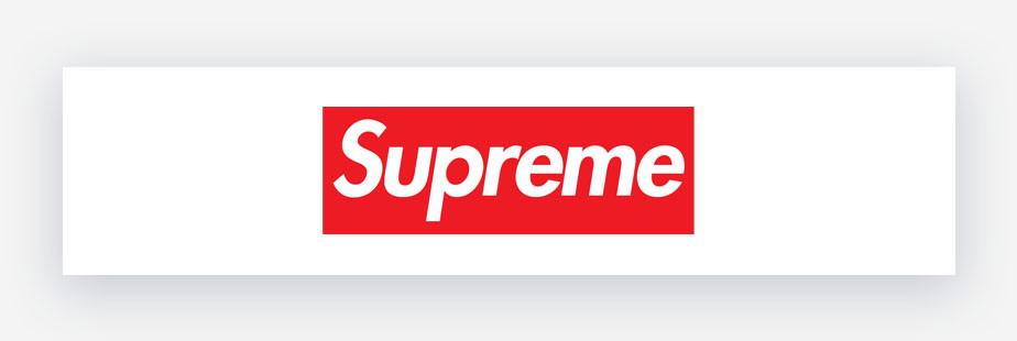 Red supreme logo