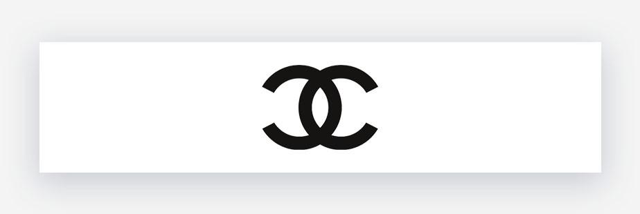 black and white chanel logo