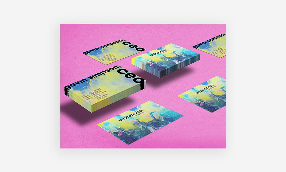 Colorful and fun business card idea