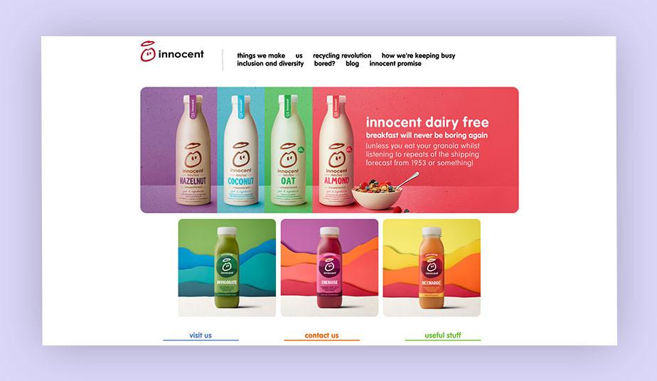 Innocent drinks branding