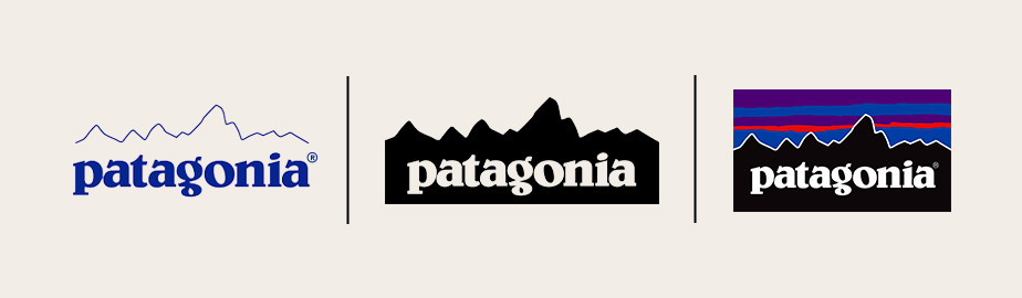different versions of patagonia logo image