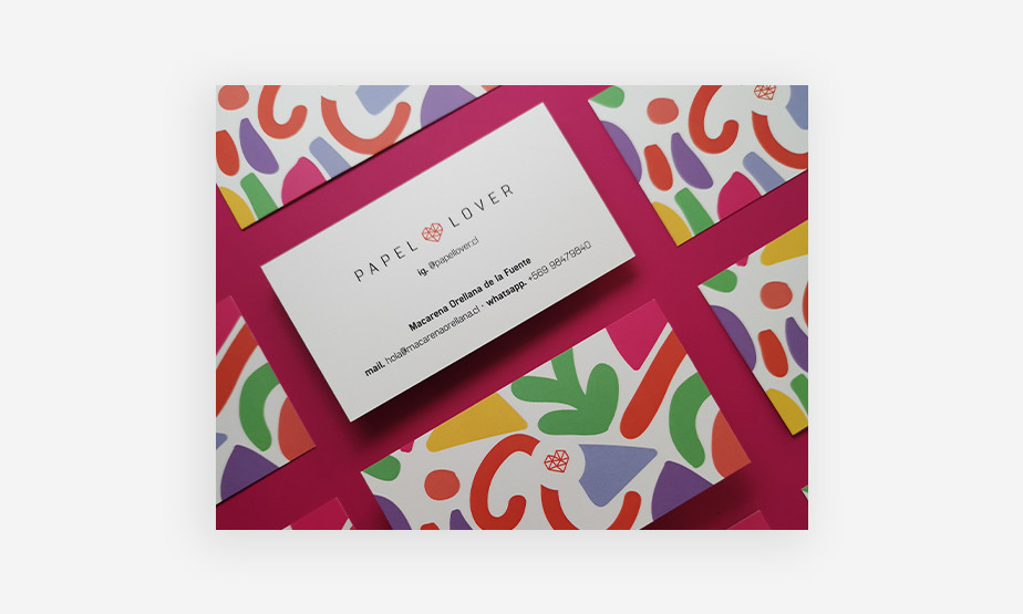 colorful business card example