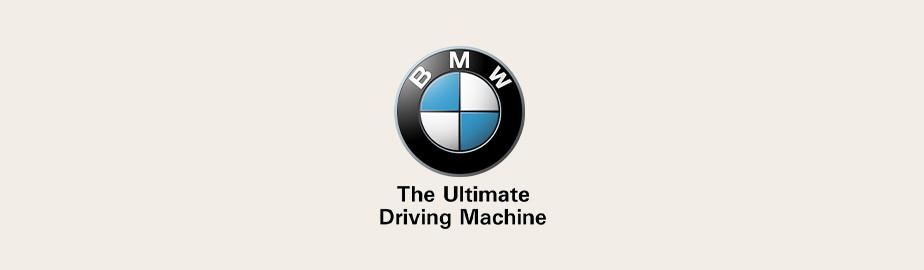BMW logo with tagline