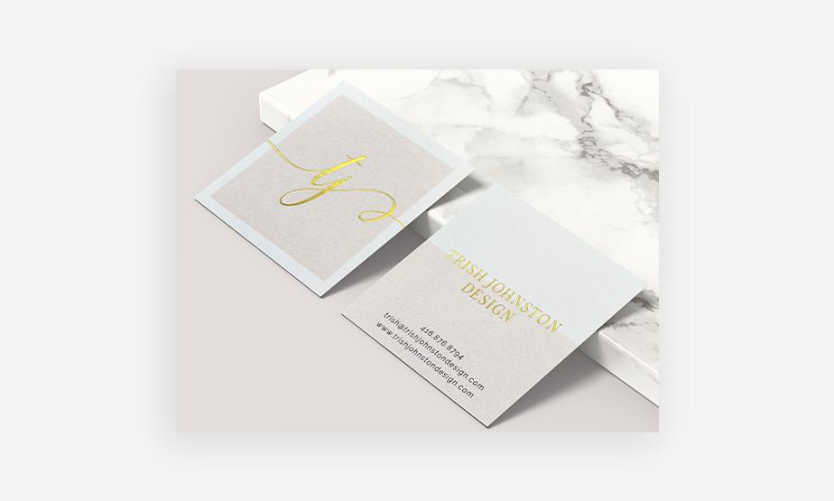 gold business card idea