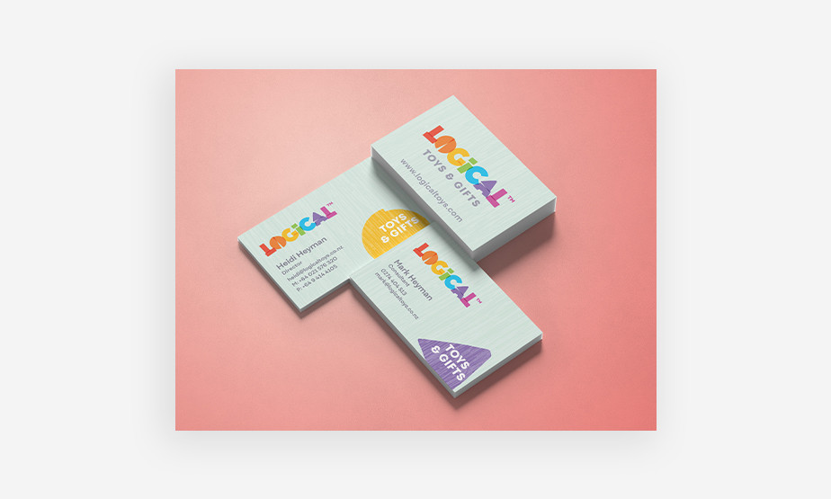 Logical toys and gifts business cards