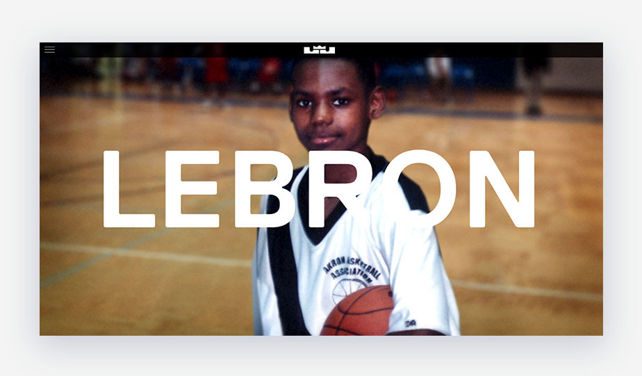 Lebron James website personal branding example