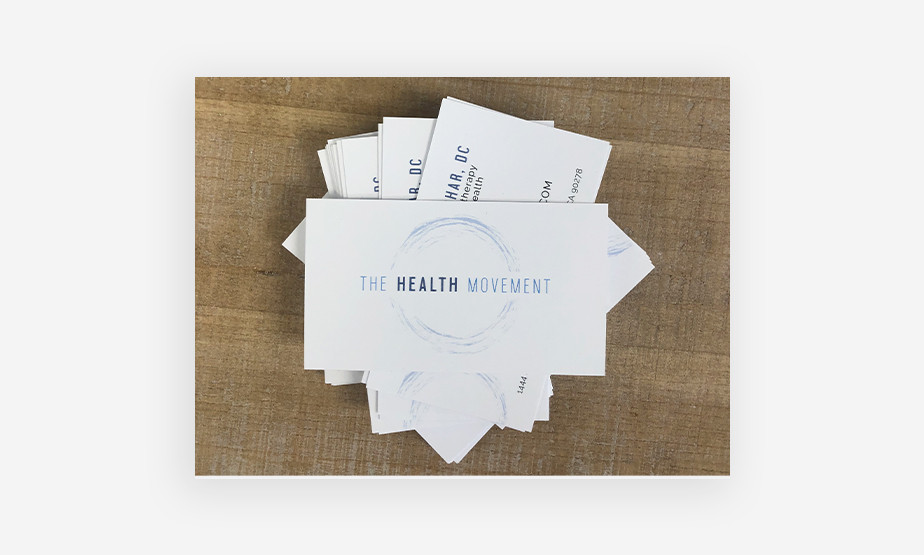 health and wellness business card example
