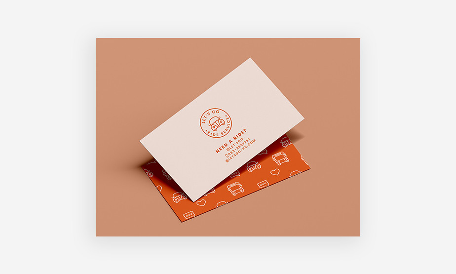 ride share business card example