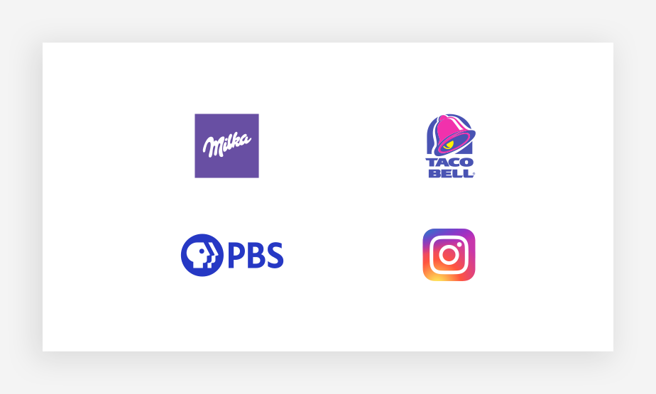 collection of notable purple logo colors