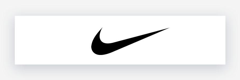 Nike logo in black