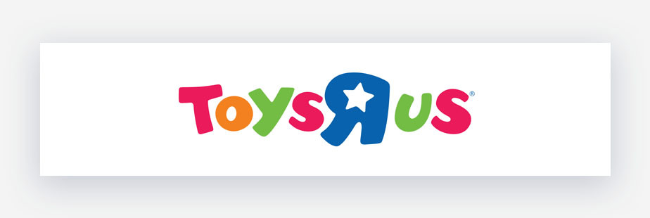 Toys R Us colorful logo example