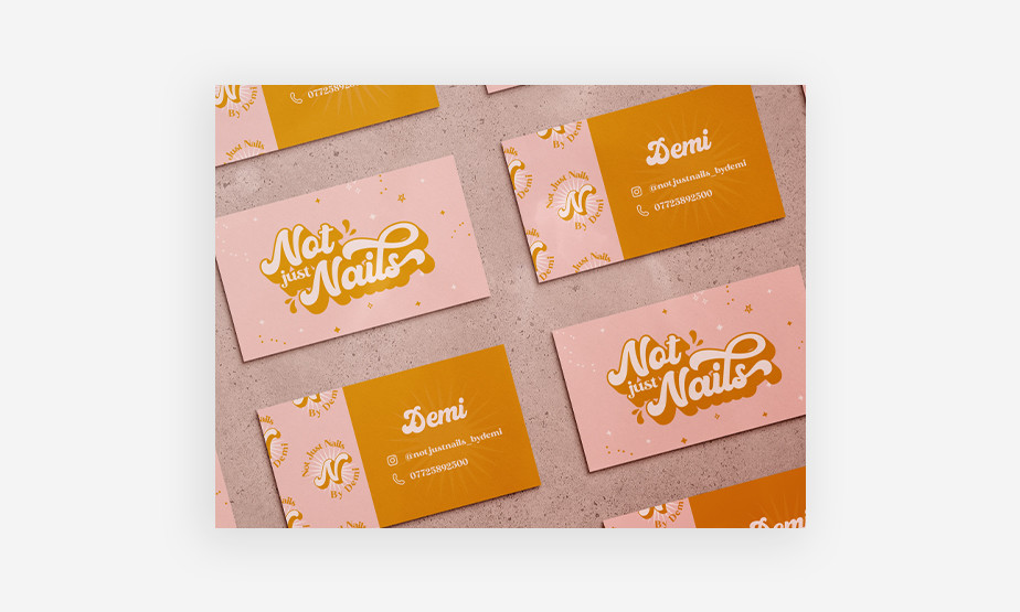 retro business card design example