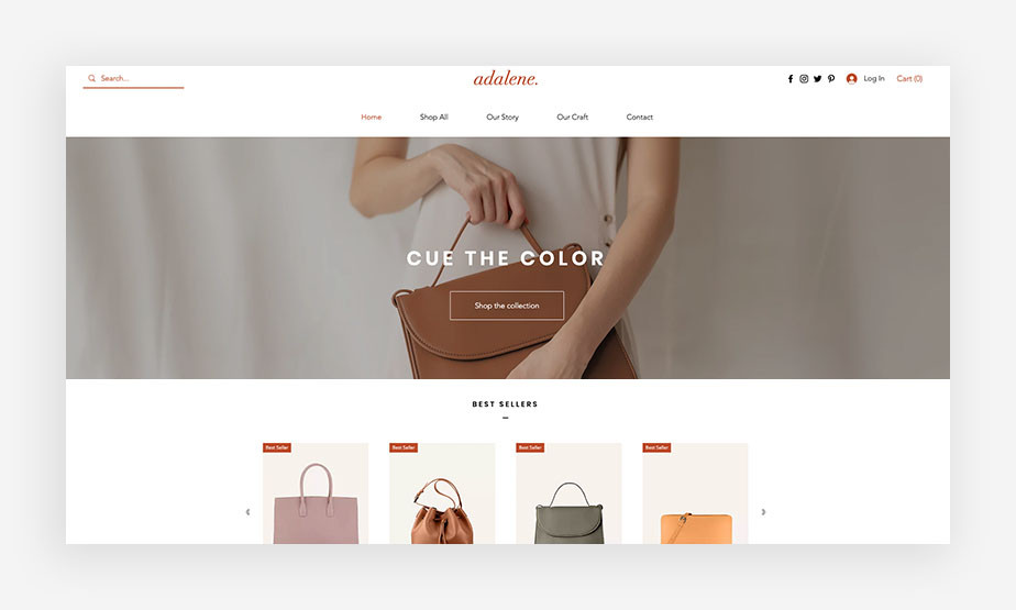 Dynamic website example