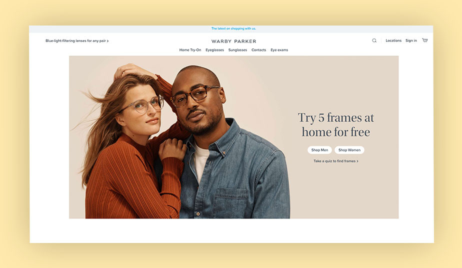 Warby Parker brand style