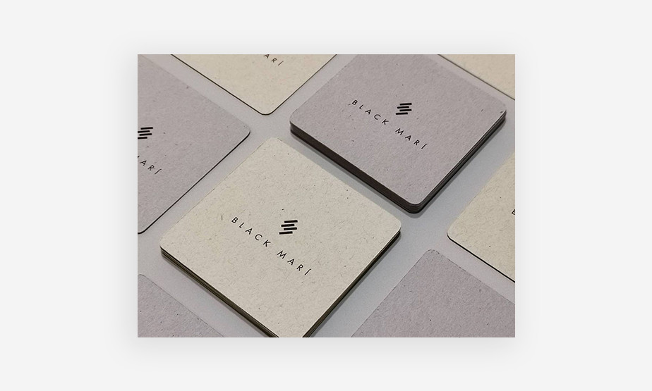 business cards with round edges