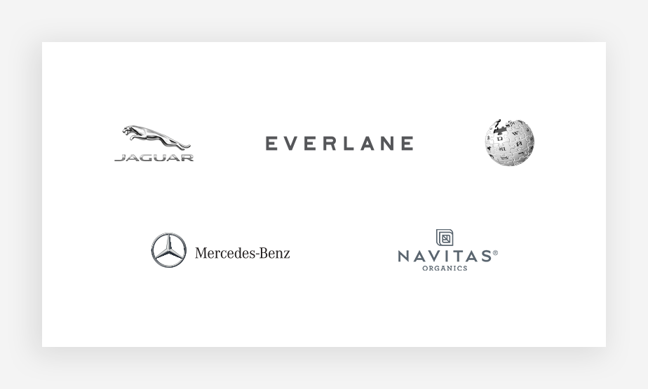 collection of gray logo color examples