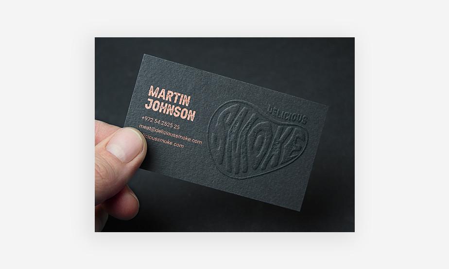 embossed business card idea