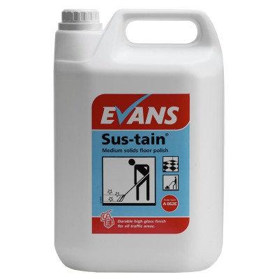 Evans Sus-stain medium solids floor polish