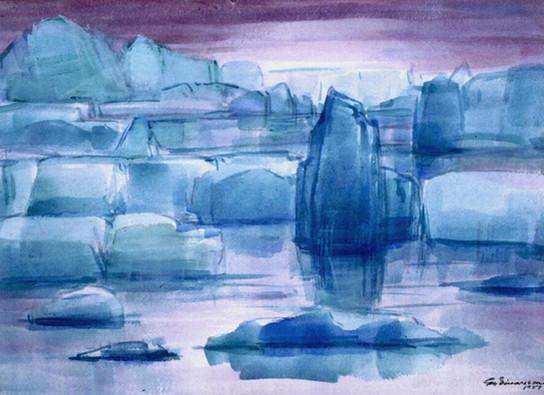 Hafís, Austur-Grænlandi 1951 – Icebergs in Eastern Greenland