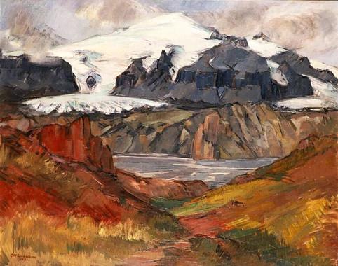 Úr Þórsmörk til Eyjafjallajökuls 1931 S – From Þórsmörk, view towards Eyjafjallajökull S