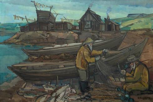 Úr vörinni 1944 SH Old style fishing 1944 SH