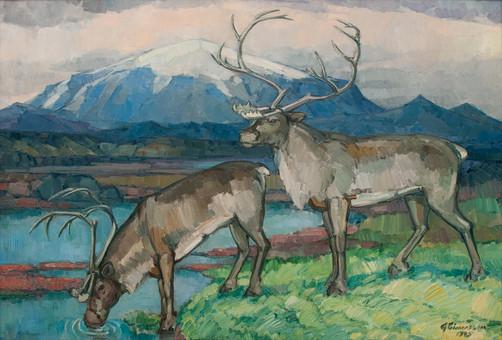 Á hreindýraslóðum 1945 S Reindeers 1945 S